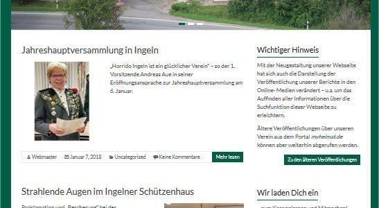 Horrido Ingeln hat eine neue Homepage!