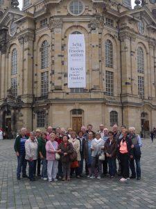 Gruppenbild der Schützen an der Dresdener Frauenkirche