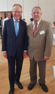 Ministerpräsident Weil u. Uwe Klokow
