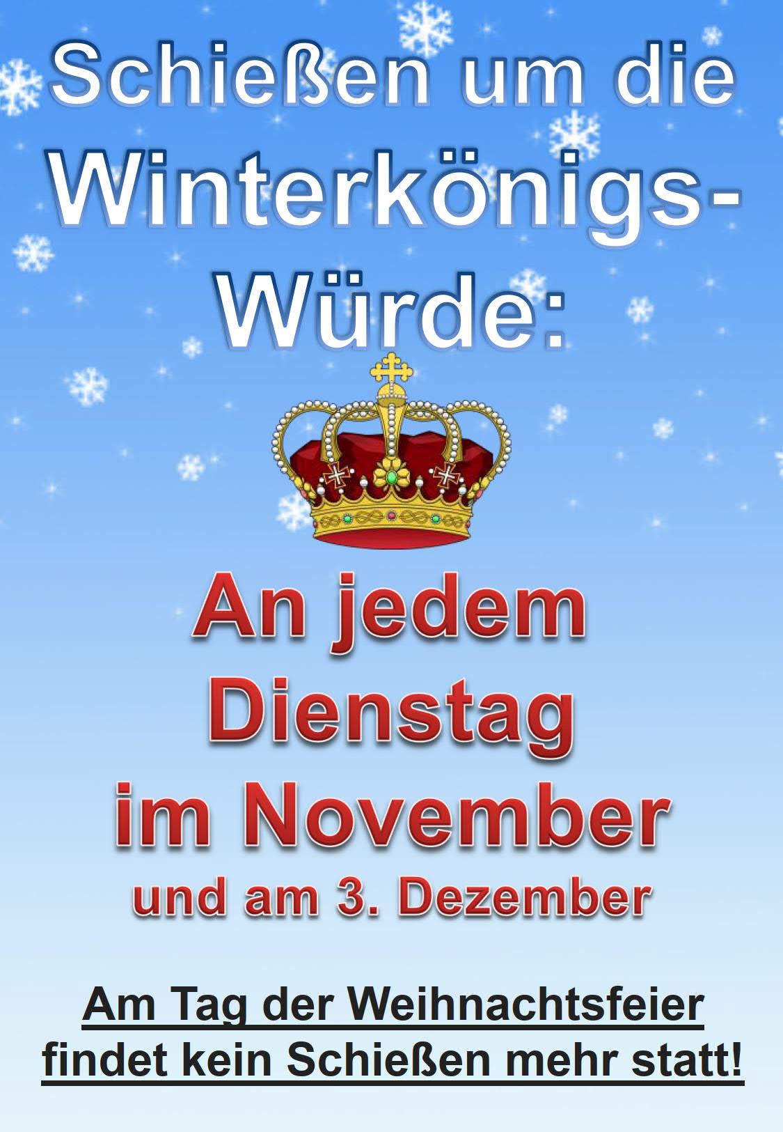 Schießen um die Winterkönigswürde im November