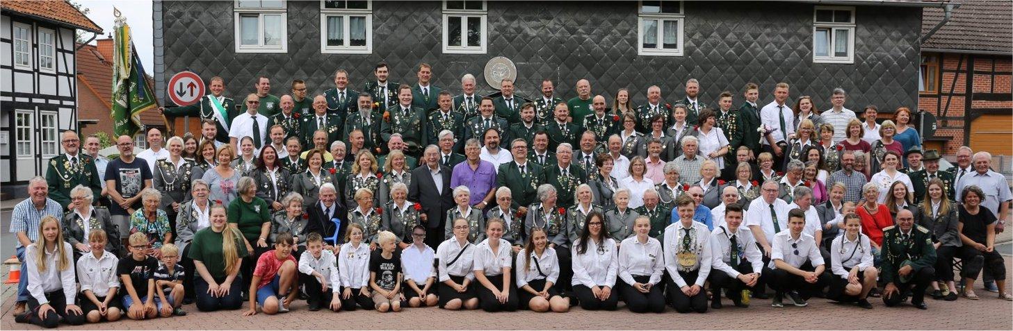 Die Mitglieder des Schützenvereins im Jubiläumsjahr