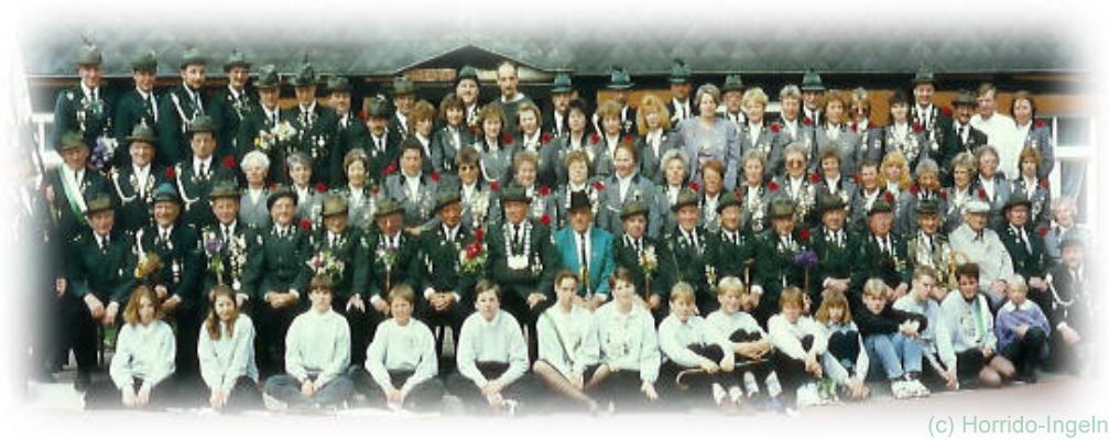 Gruppenfoto unseres Vereins aus dem Jahr 1995 anlässlich unseres 75-jährigen Jubiläums