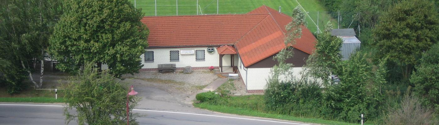 Das Schützenhaus aus der Luft